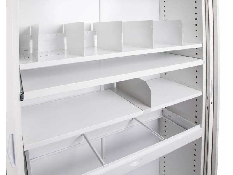 Shelf with Slotted Dividers