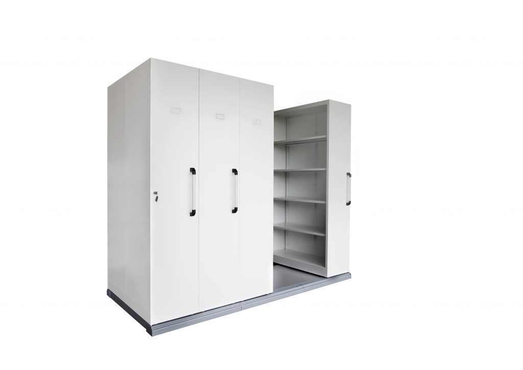 4 Bay Mobile Shelving