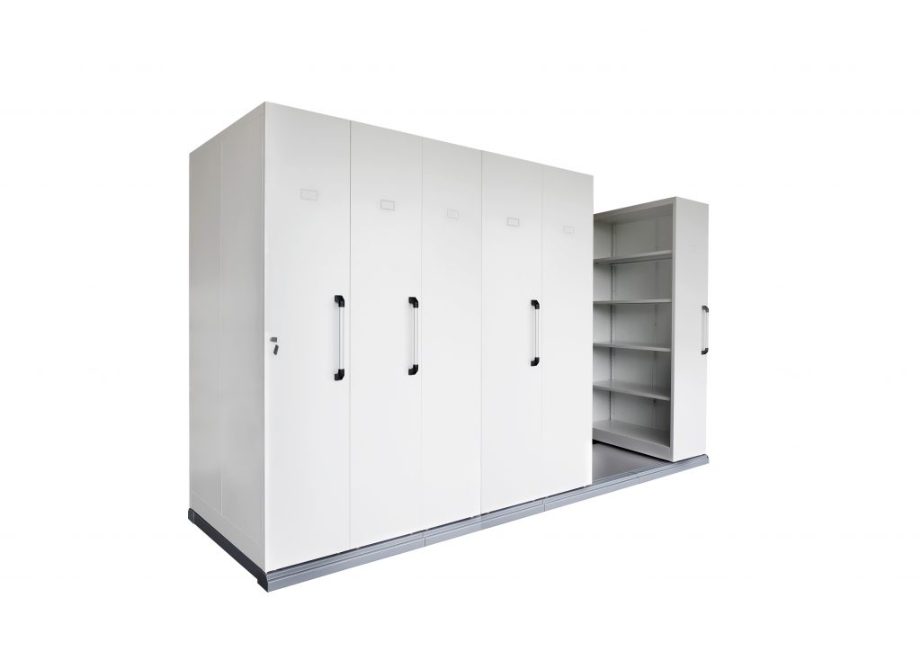 6 Bay Mobile Shelving
