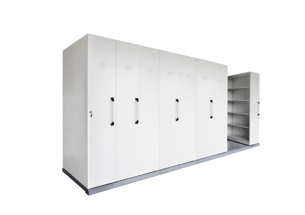 8 Bay Mobile Shelving