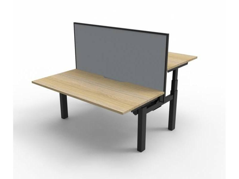 Paramount Height Adj Desk / Screen 1800,