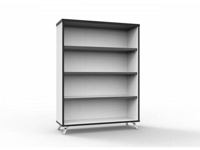 Deluxe bookcase 1200 grey