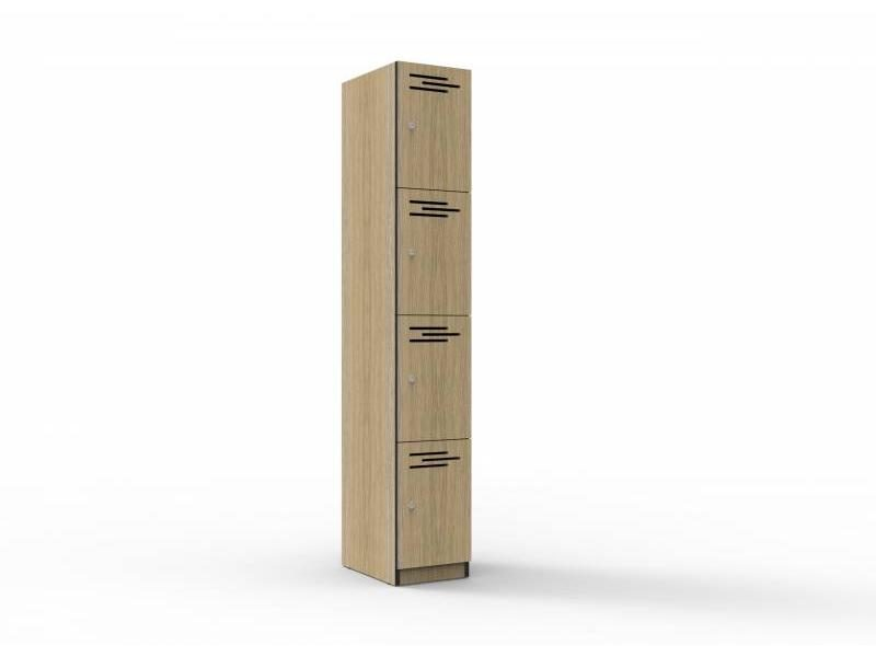 Locker -Four Door Melamine 305mm