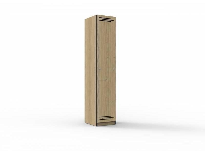 Locker -Two Door Stepped Melamine 380mm